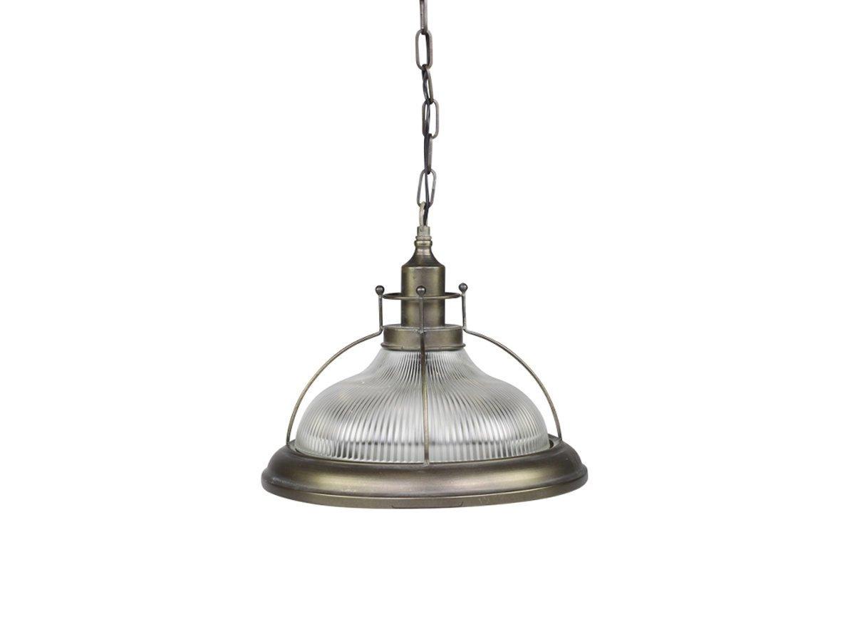 Chic Antique Factory Hängelampe mit Lampenschirm aus Glas