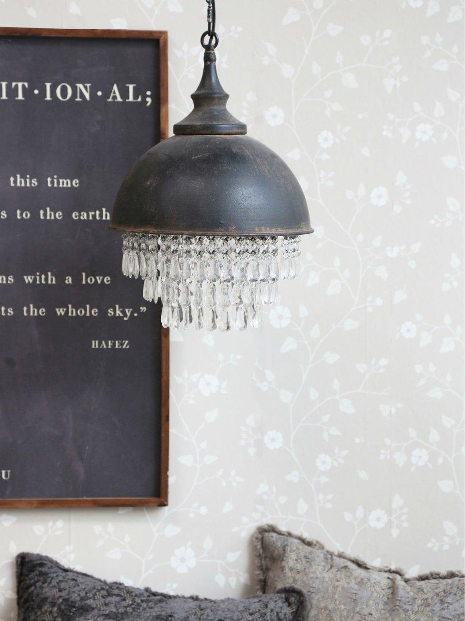 Impressionen zu Chic Antique Factory Hängelampe mit Prismen, Bild 3