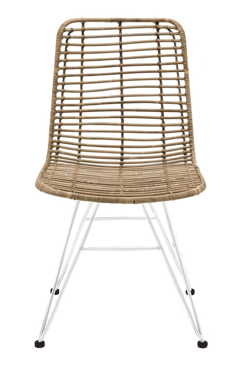 Faktorei Rattan-Stuhl mit Metall Gestell