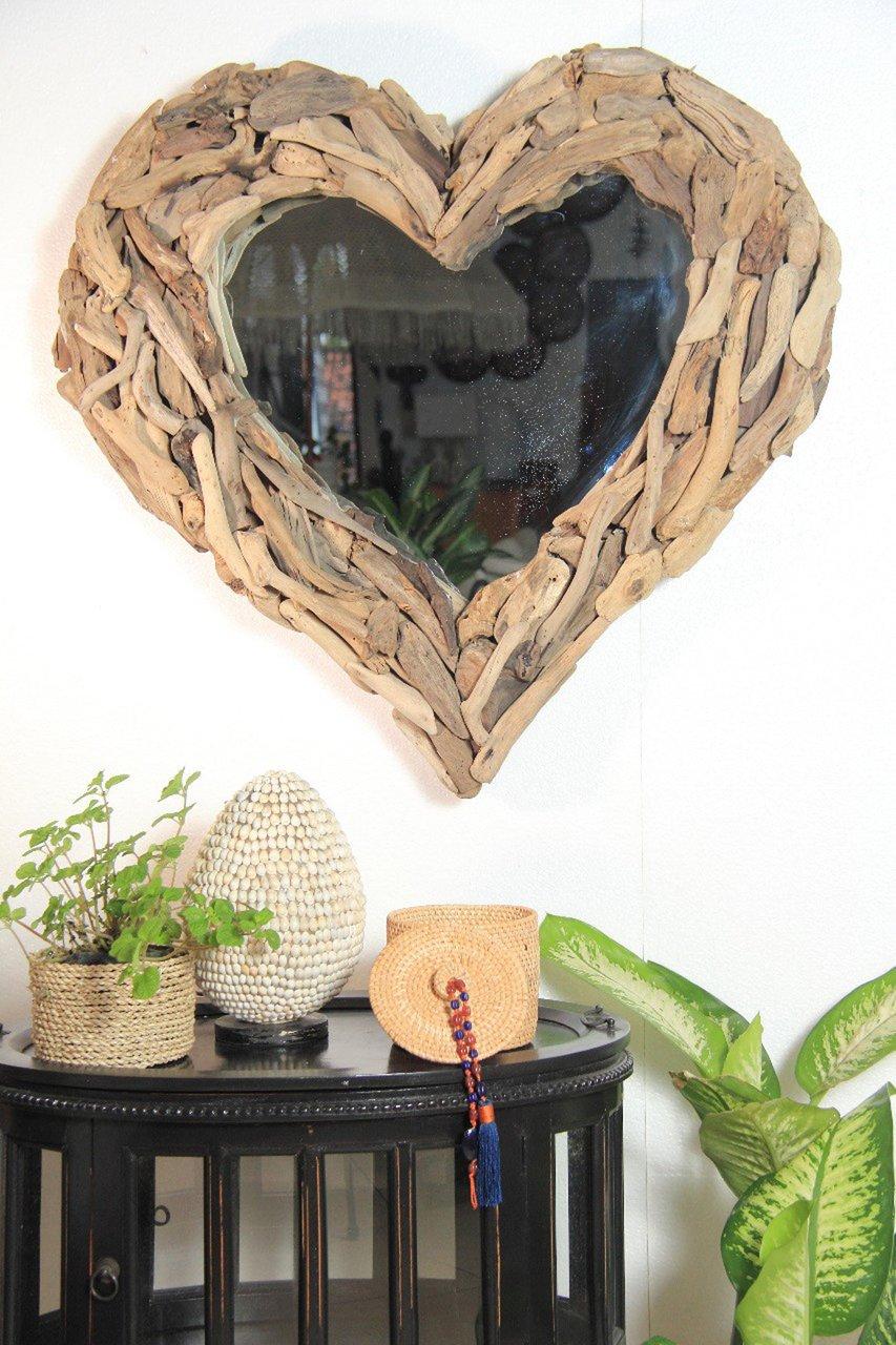 Faktorei Spiegel in Herzform Unikat
