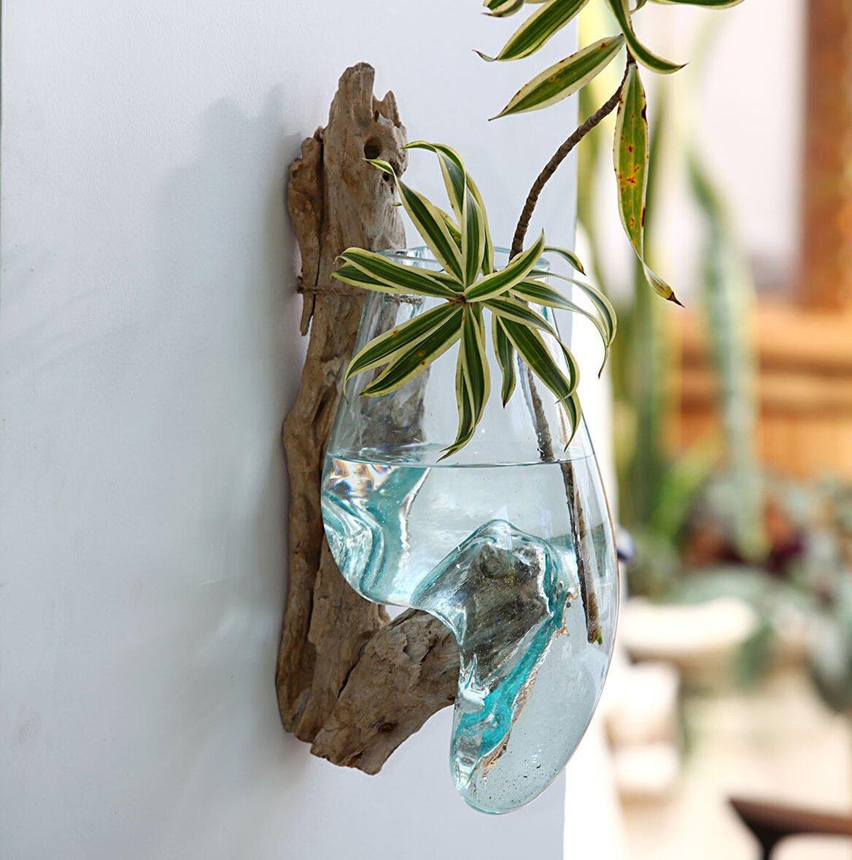 Faktorei Unikat-Dekowurzel zum Hängen mit Glastropfen