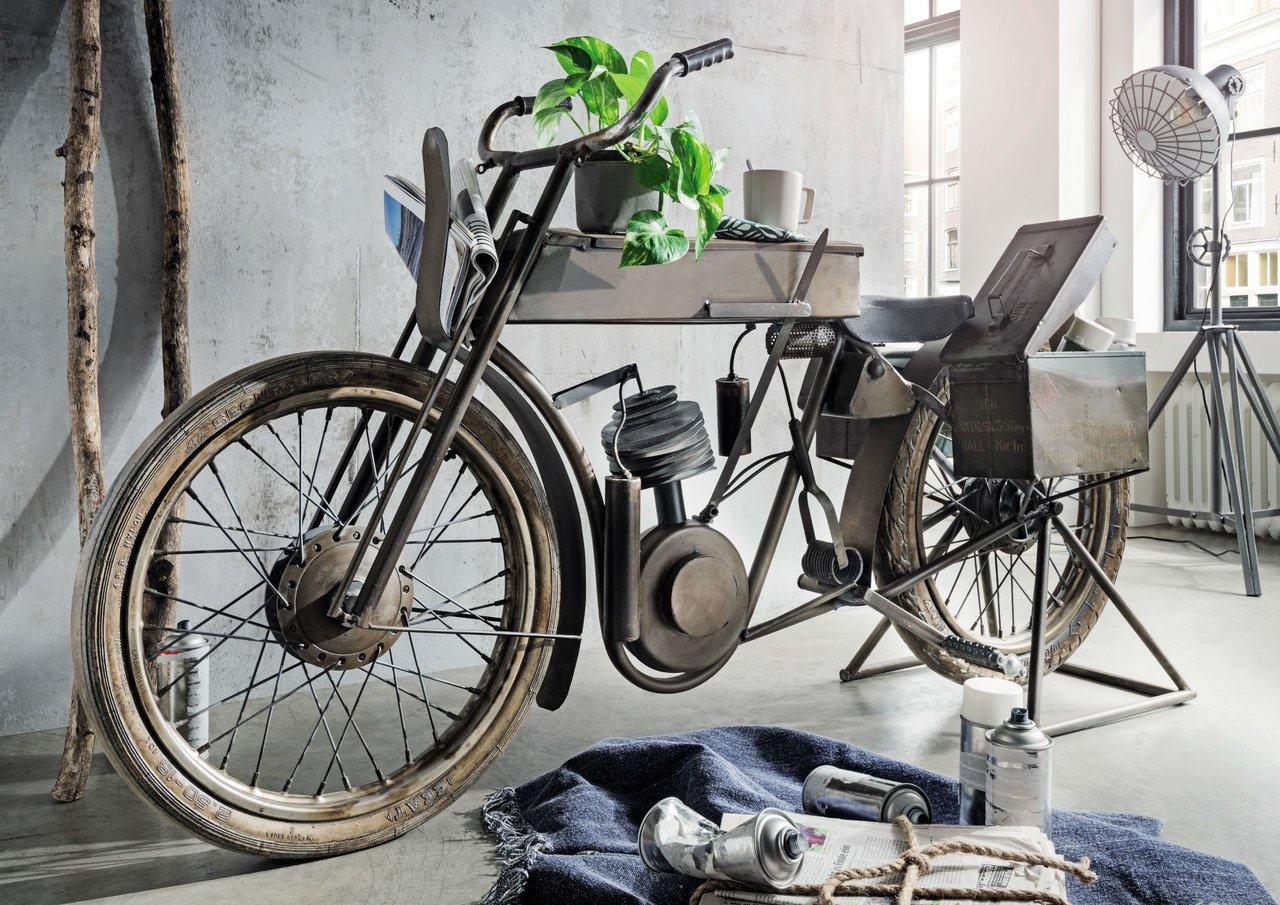 Faktorei Unikat Moto-Bike Bar, mit Seitenboxen