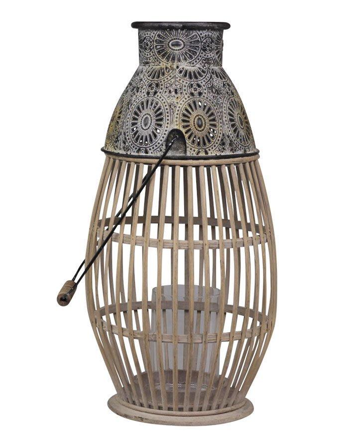 Chic Antique Französische Laterne Bambus