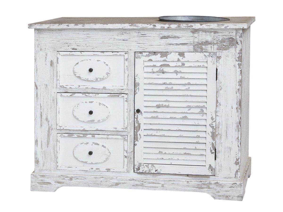 Chic Antique Französischer Landhaus Küchenschrank mit Spülbecken