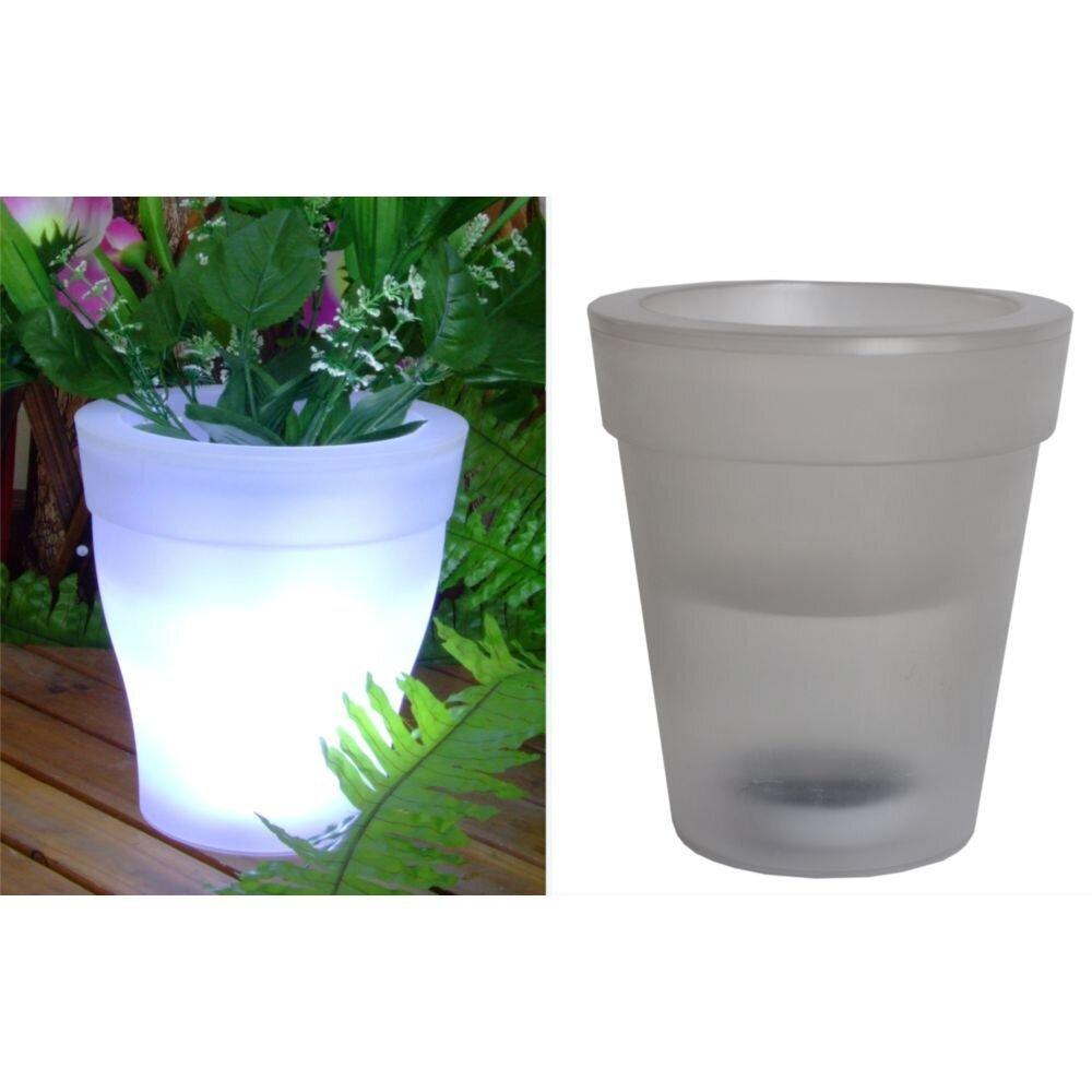 Garden Pleasure Solar-Blumentopf, 4 weiße LEDs