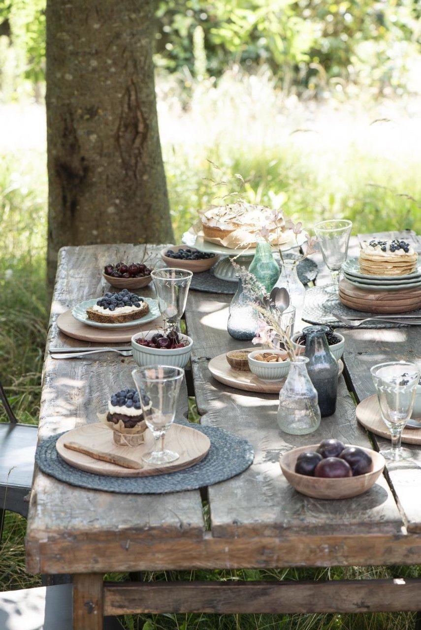 Gedeckter Tisch mit Mynte Green Tea