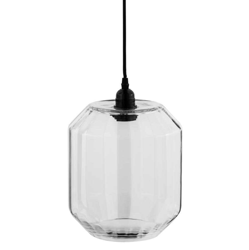 Clayre & Eef Glas Hängelampe eckige Form