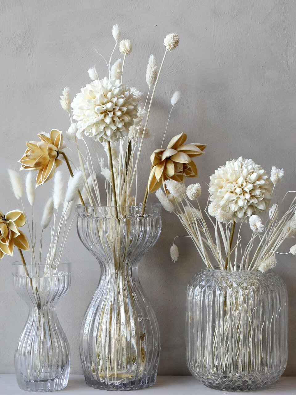 Glas trifft Trockenblume