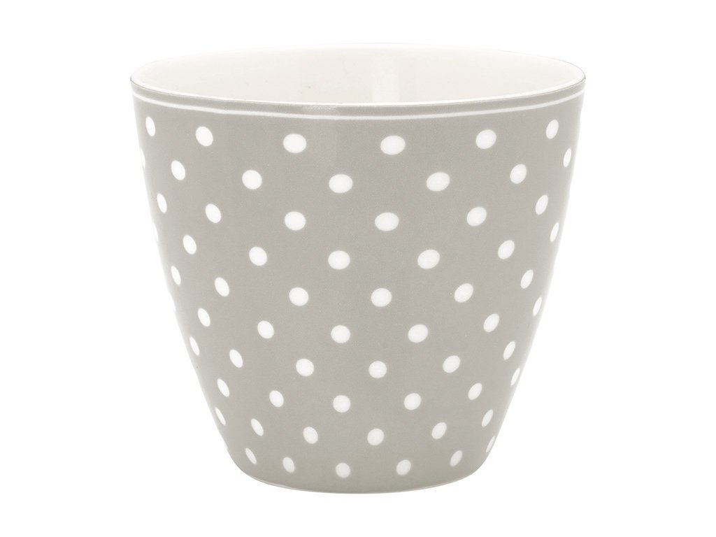 GreenGate Latte Tasse Spot Grey