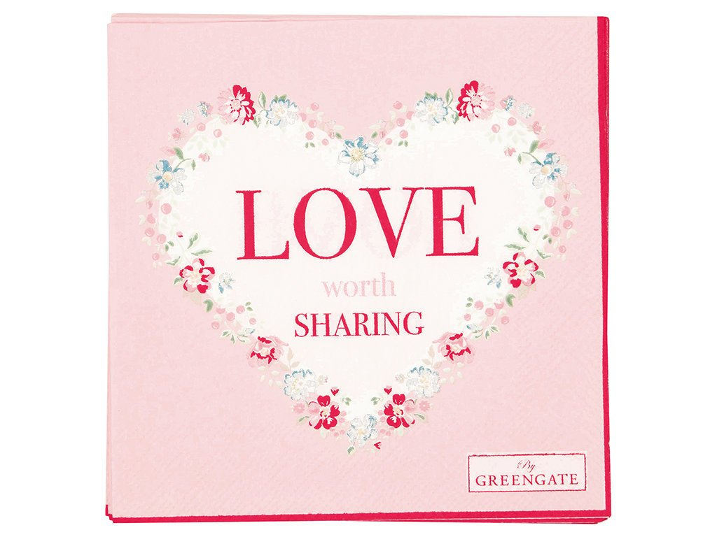 GreenGate Kleine Servietten Love