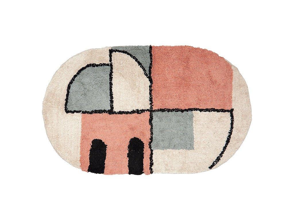 GreenGate Teppich Grafik aus Baumwolle