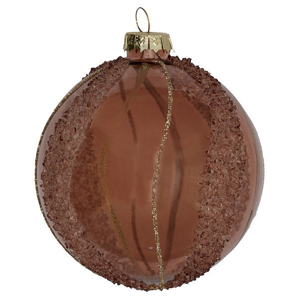 GreenGate Weihnachtskugel Elouise braun