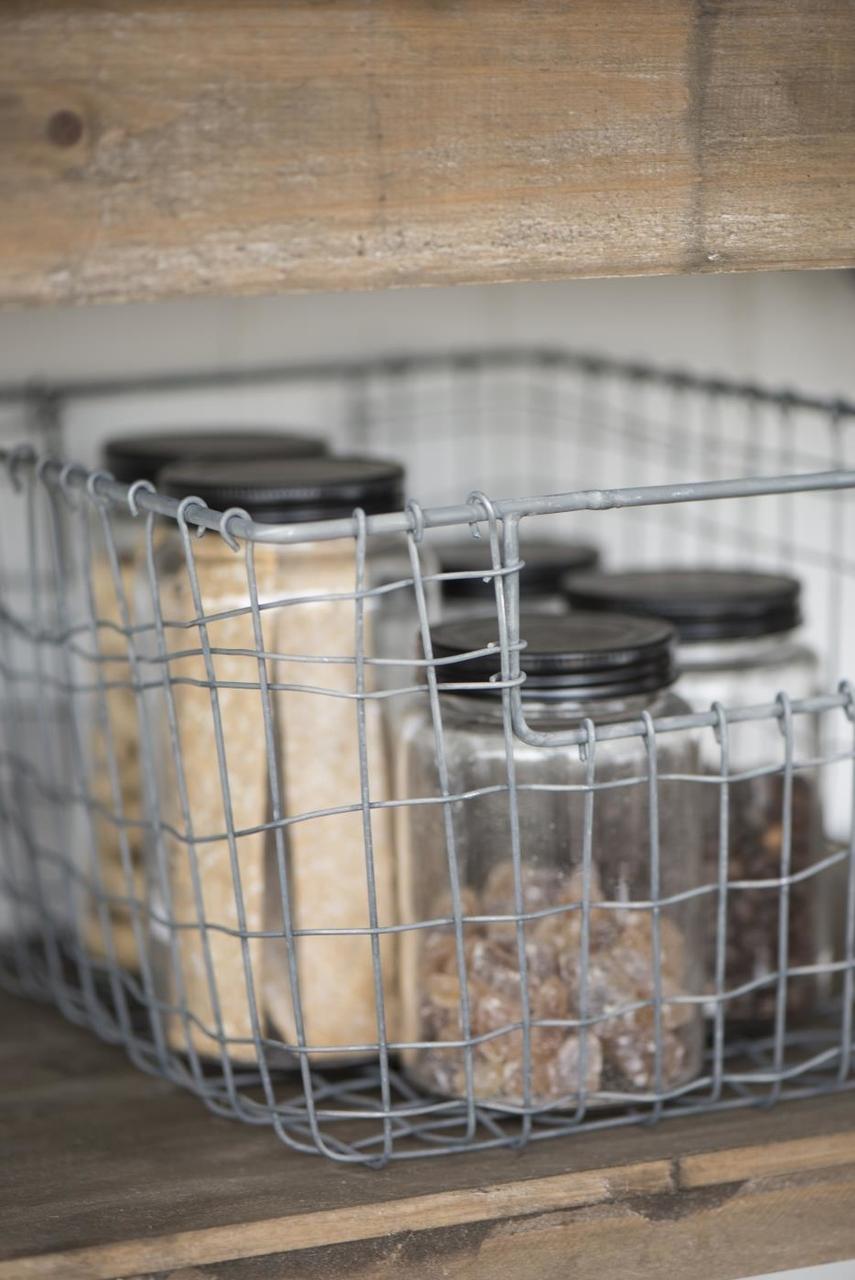 Impressionen zu Ib Laursen Großer Drahtkorb mit offenen Henkeln, Bild 2