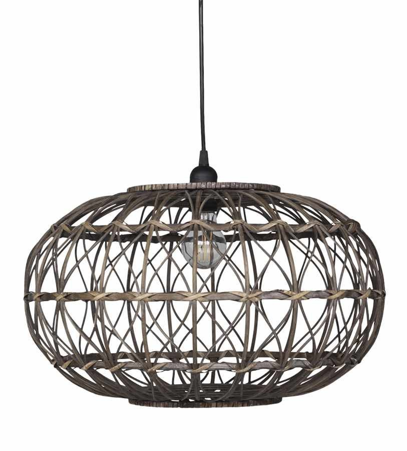 Chic Antique Hänge-Lampe aus Rattan Natur