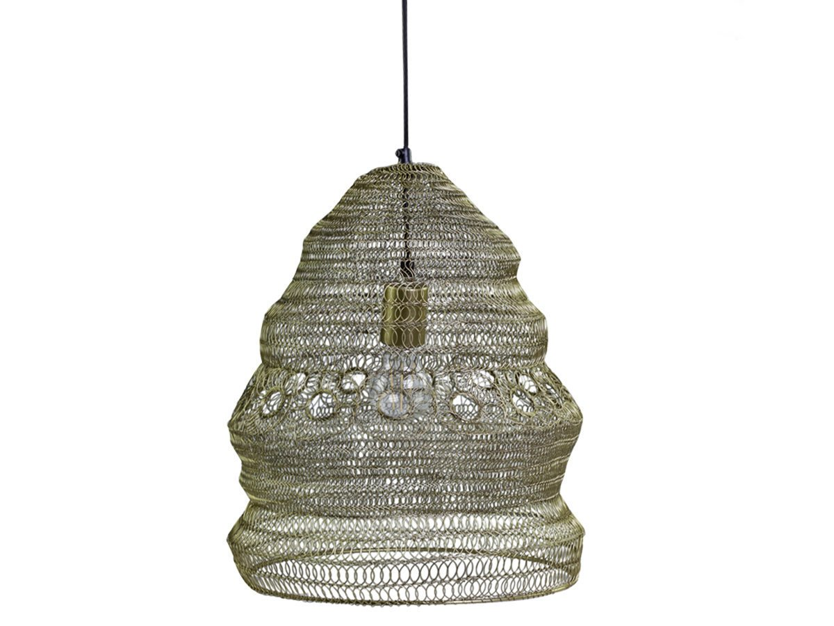 Chic Antique Hängelampe Fil de fer Lampe Antik Messing