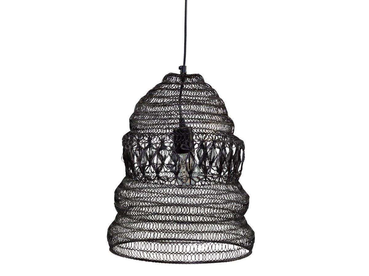 Chic Antique Hängelampe Fil de fer Lampe Antik Mokka