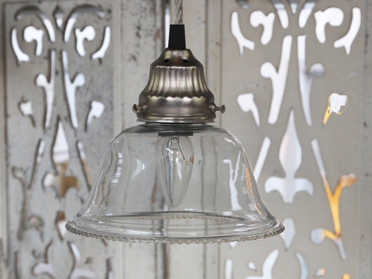 Impressionen zu Chic Antique Hängelampe mit handgeschliffenem Lampenschirm aus Glas, Bild 1
