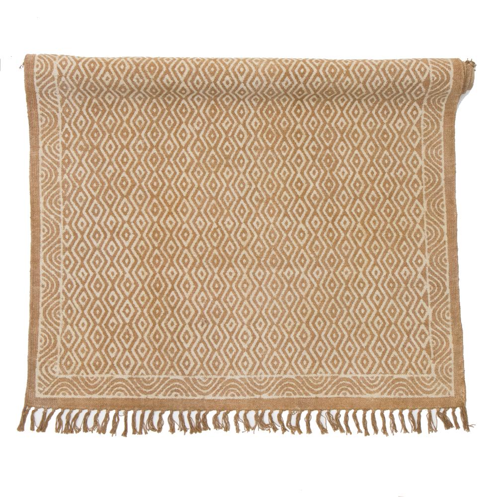 byRoom Handgewebter Teppich Mustard
