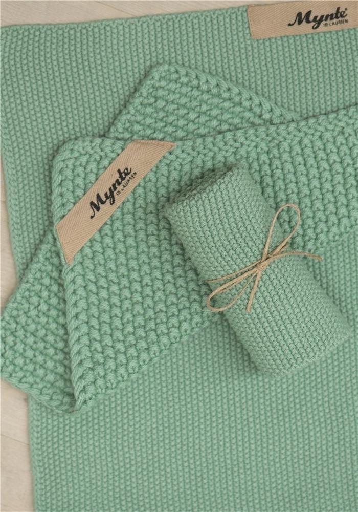 Impressionen zu Ib Laursen Handtuch Mynte gestrickt, Bild 5