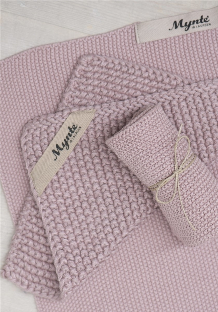Impressionen zu Ib Laursen Handtuch Mynte gestrickt, Bild 7