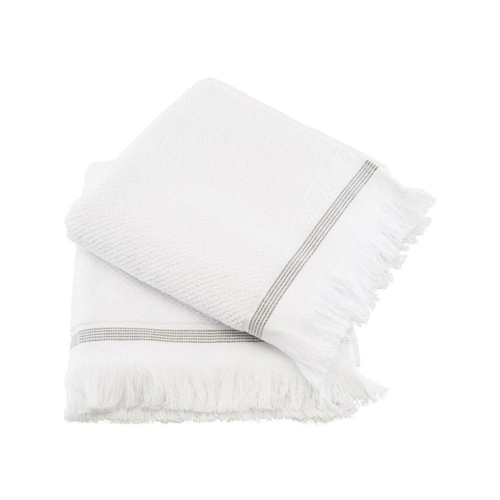 Meraki Handtücher 2er Set aus Bio Baumwolle weiß