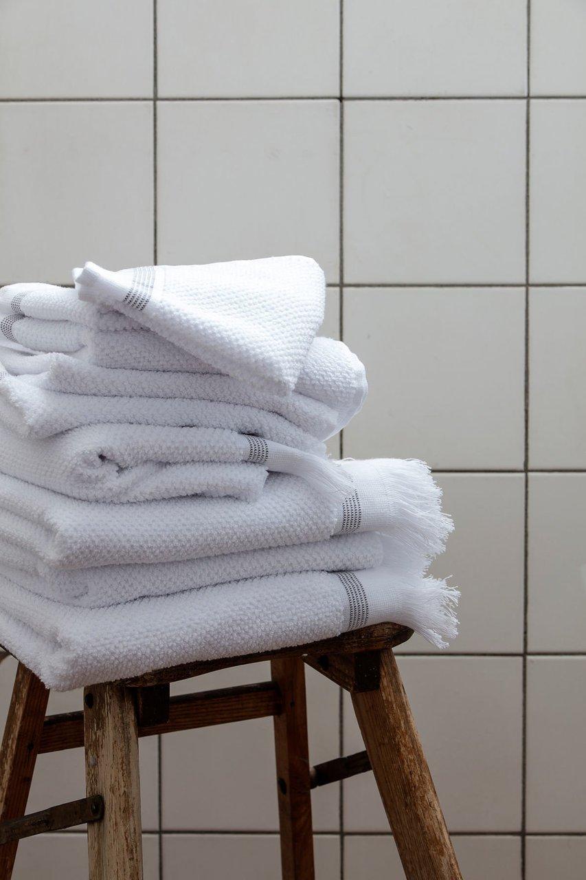 Impressionen zu Meraki Handtücher 2er Set aus Bio Baumwolle weiß, Bild 1