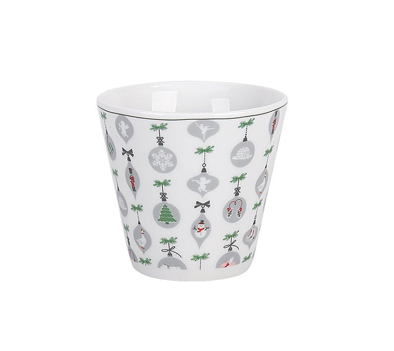 Krasilnikoff Happy Cup Tumbler Becher X-Mas Ornaments All