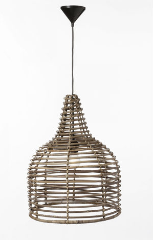 HSM Collection Henk Schram Lampe Pendelleuchte Rattan