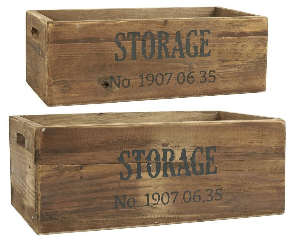 Ib Laursen Holz Kisten Storage je 2er Set