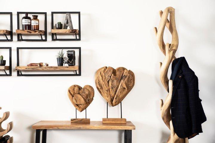 Impressionen zu HSM Collection Holzskulptur Herz Teak Wurzelholz, Bild 1