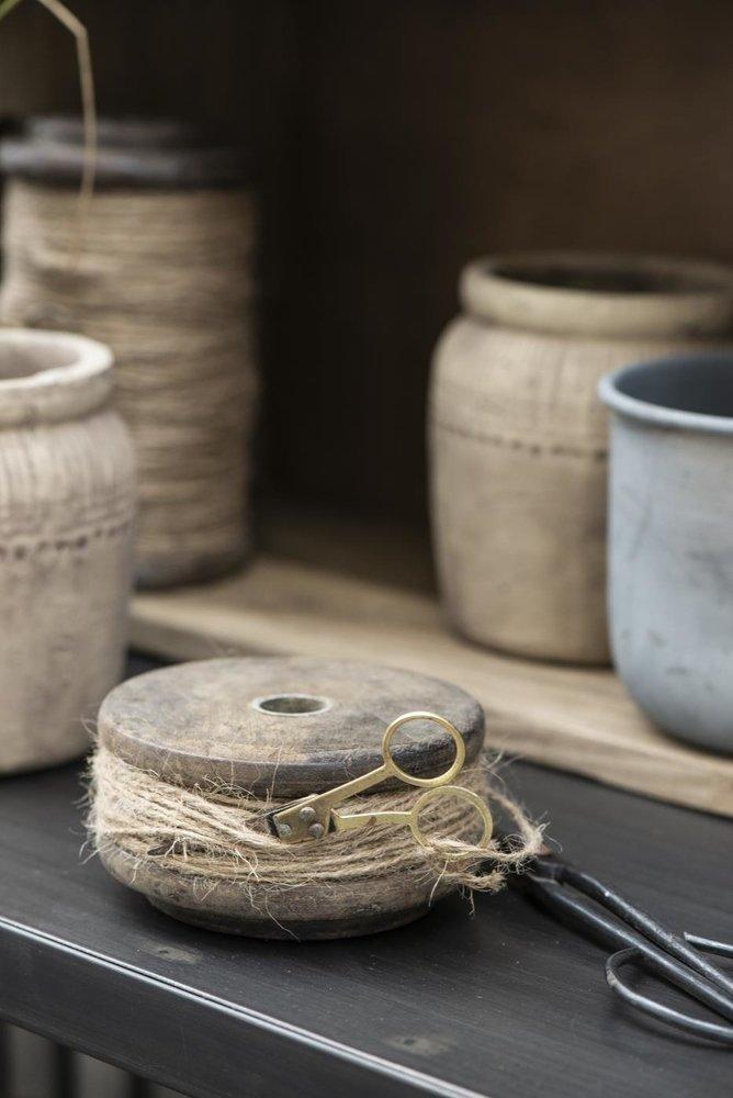 Impressionen zu Ib Laursen Holzspule mit Juteschnur und Schere UNIKA, Bild 1