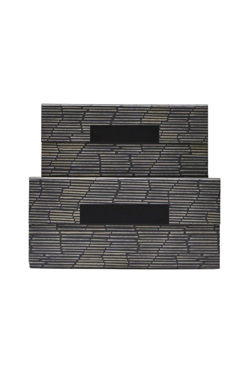 House Doctor Aufbewahrungsboxen mit Deckel Stripe