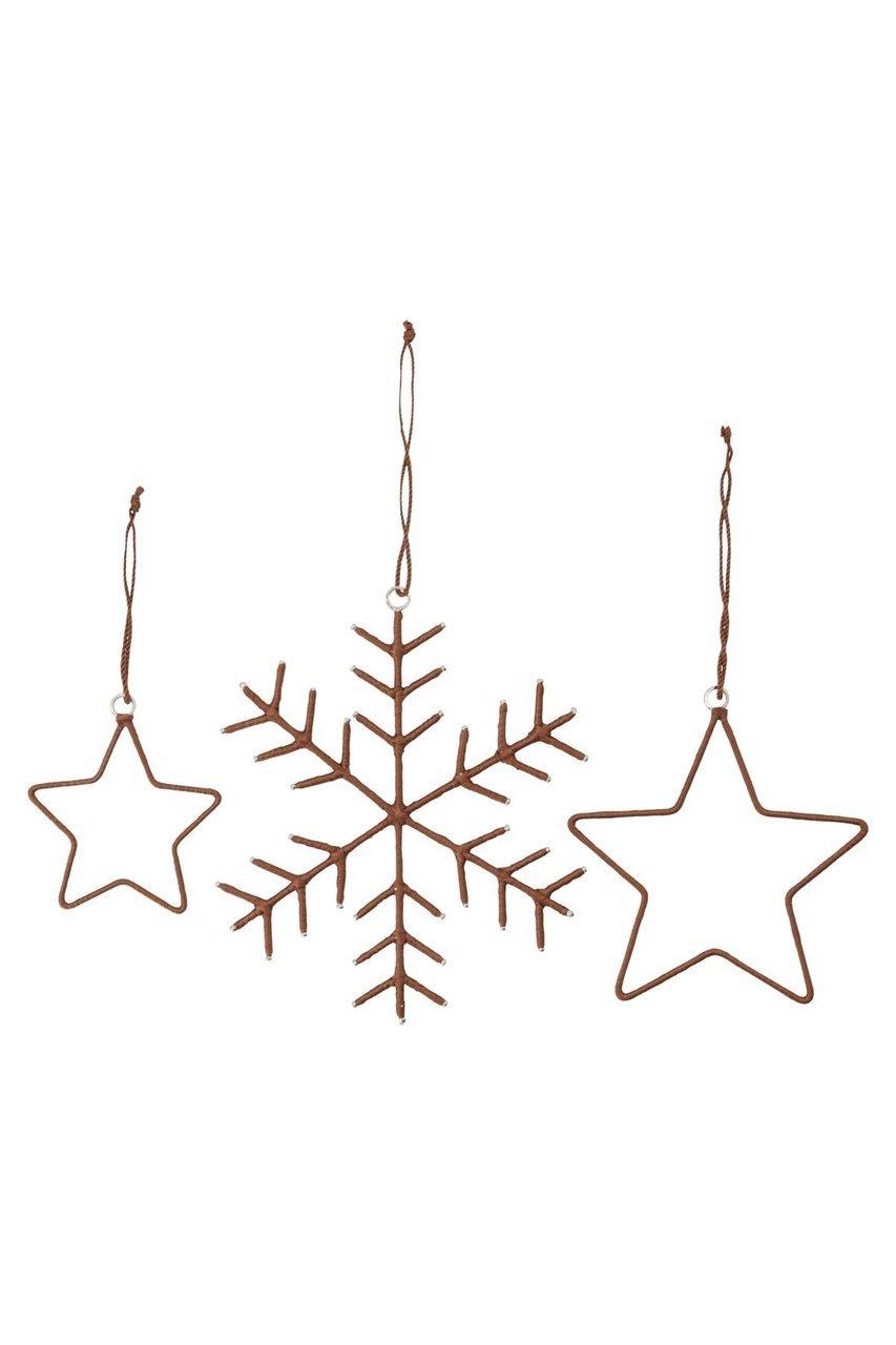 House Doctor Dekoanhänger Snowflakes & Stars