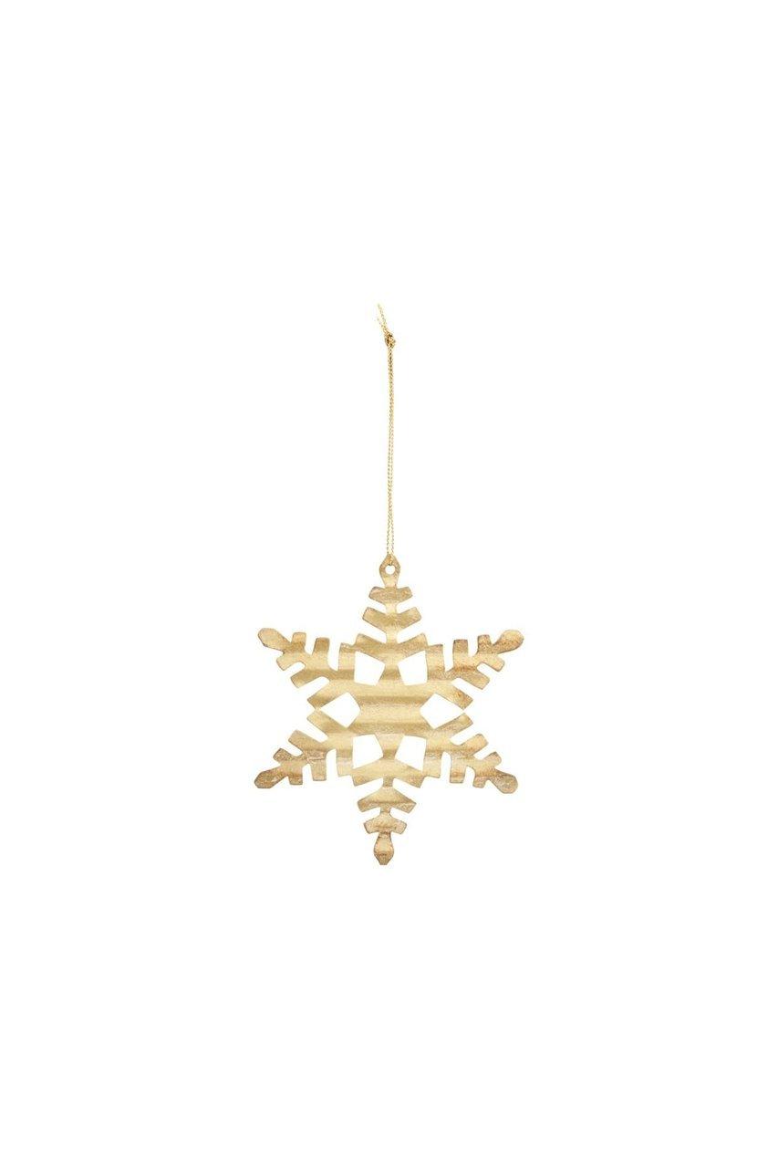 House Doctor Ornament aus Metall Schneeflocke