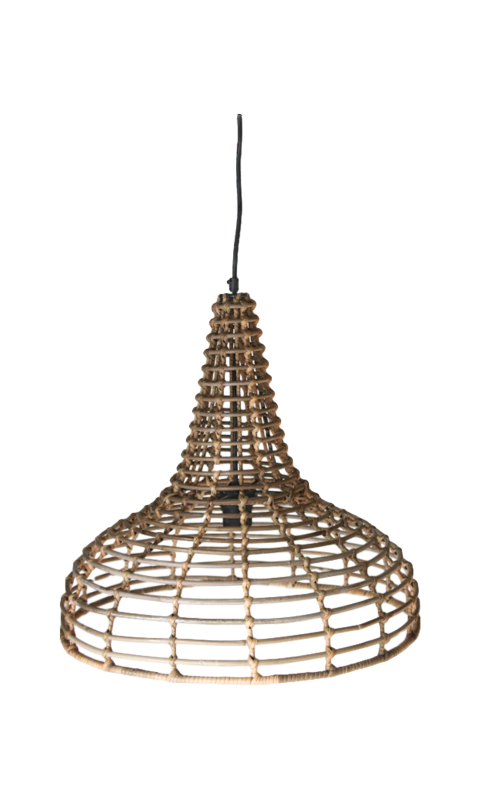 HSM Collection Pendelleuchte Rattan Natur
