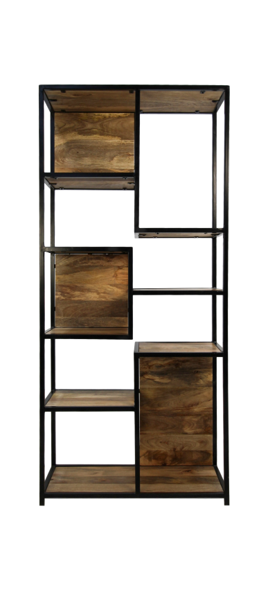 HSM Collection Standregal Levels Mangoholz Eisen
