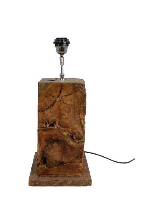 HSM Collection Tischlampe Teakholz natur