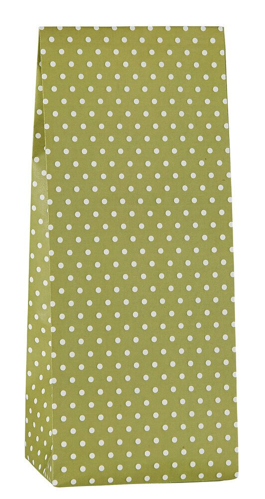 Ib Laursen Buntfalttüte grün mit Pünktchen