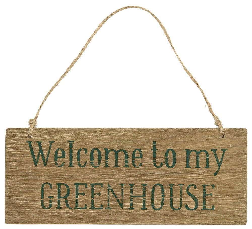 Ib Laursen Holzschild Welcome to my Greenhouse