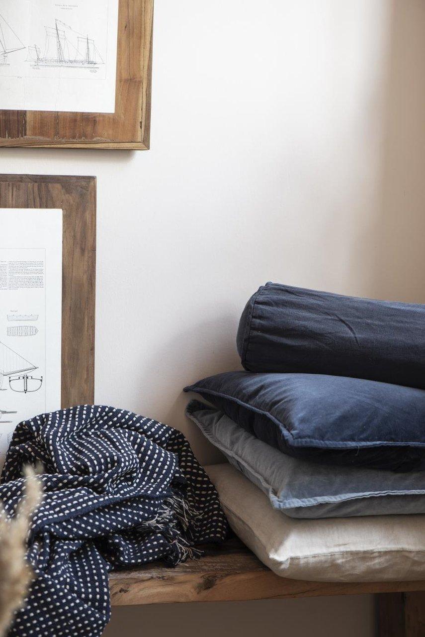 Impressionen zu Ib Laursen Plaid Decke mit Eckmuster, Bild 6