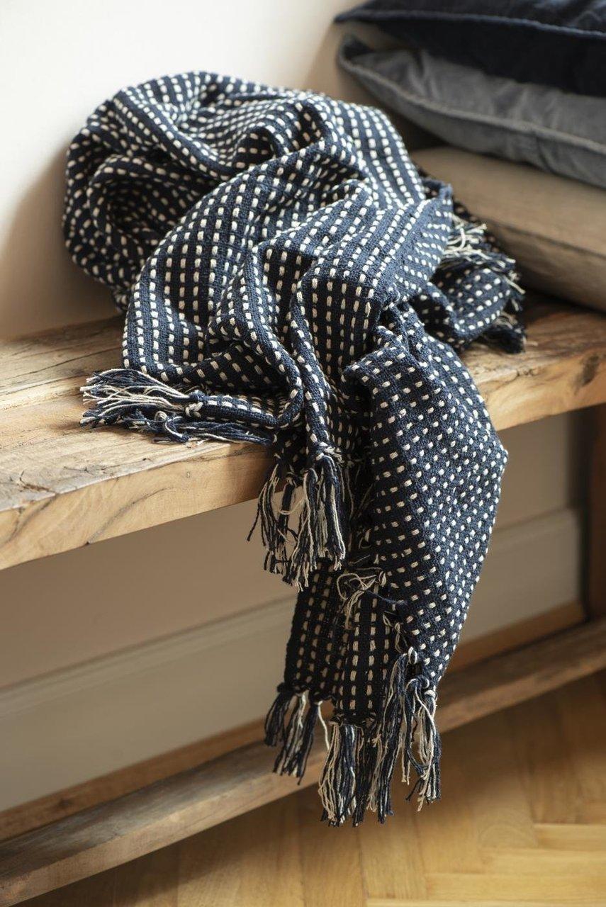 Impressionen zu Ib Laursen Plaid Decke mit Eckmuster, Bild 7