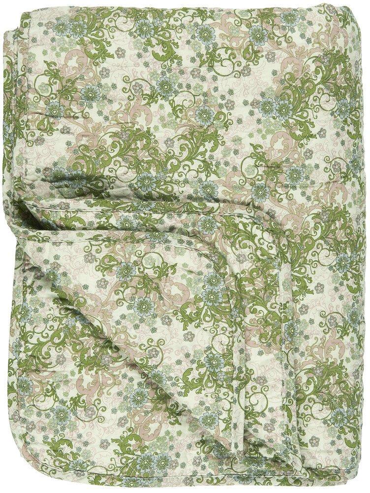 Ib Laursen Quilt grüne, beige und braune Farben