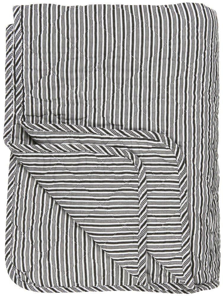 Ib Laursen Quilt mit schwarzen Streifen