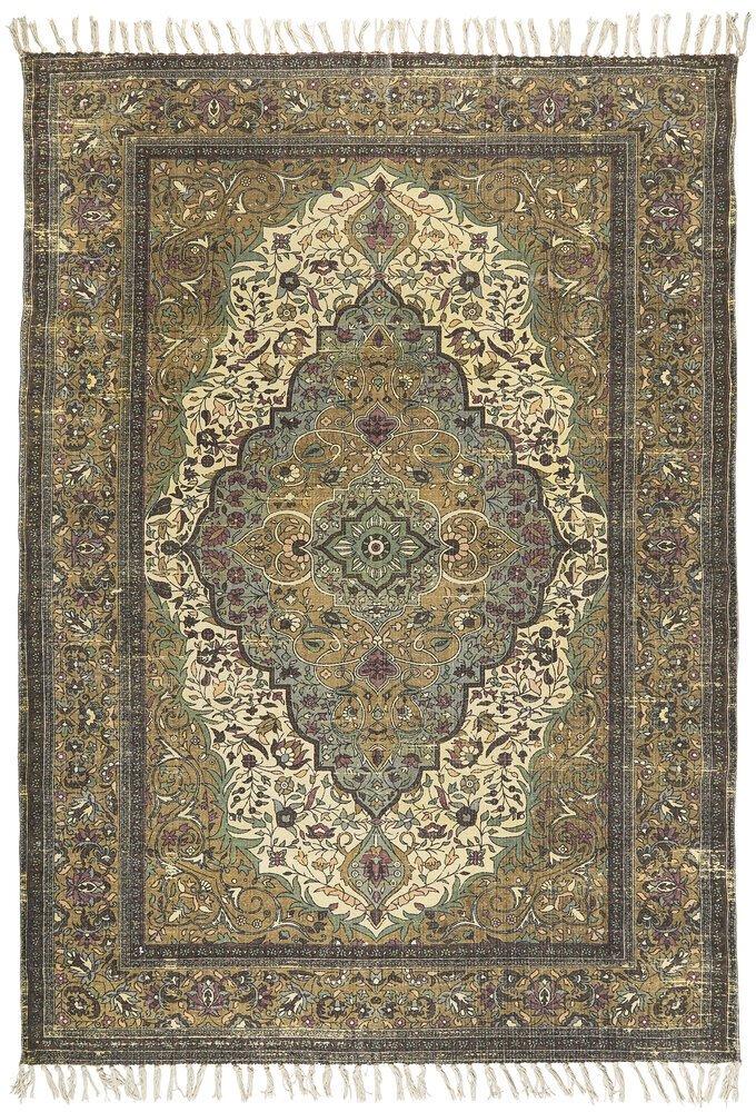 Ib Laursen Teppich handgewebt aus Baumwolle