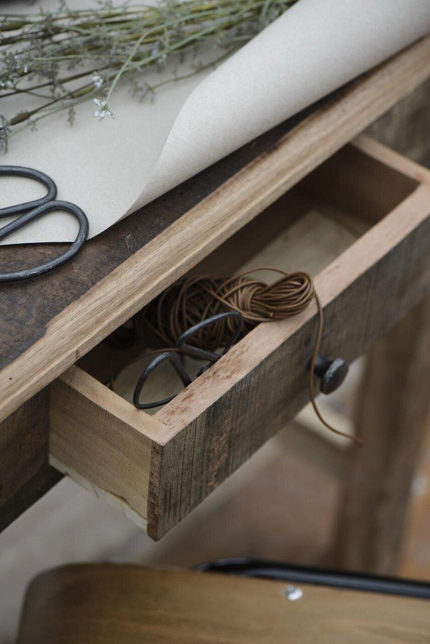 Impressionen zu Ib Laursen Tisch mit Schublade UNIKA, Bild 1