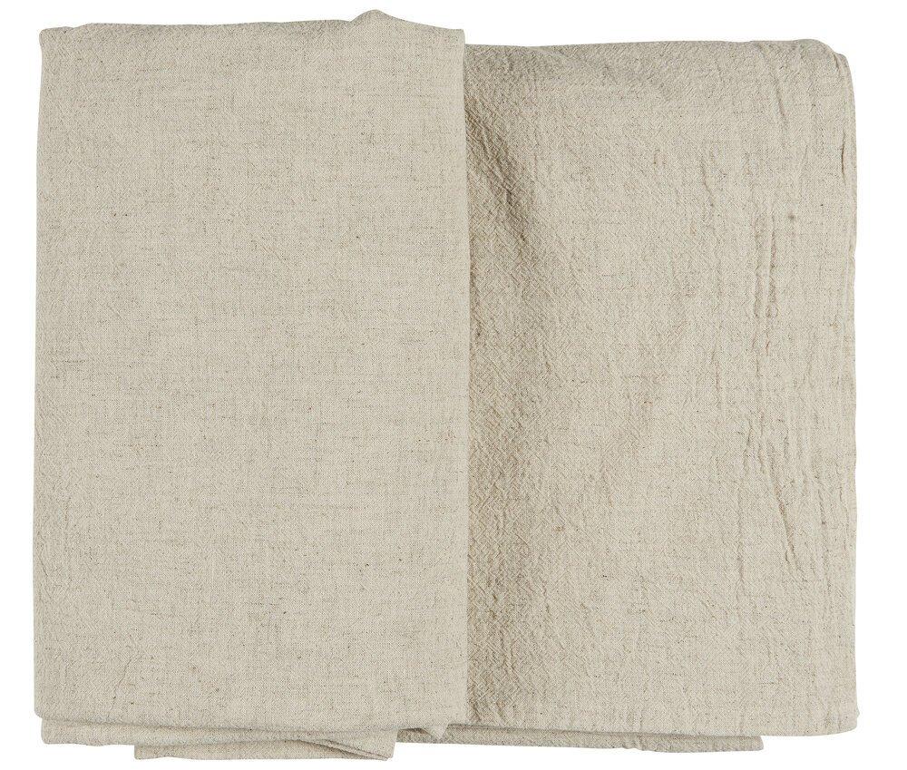 Ib Laursen Tischdecke weiß aus Leinen