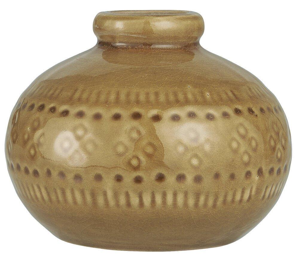 Ib Laursen Vase mit krakelierter Oberfläche