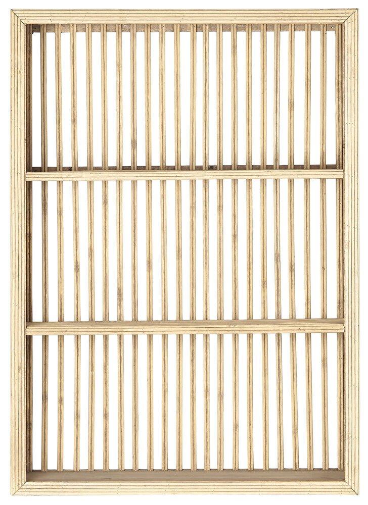 Ib Laursen Wandregal Bambus mit 3 Ablagen