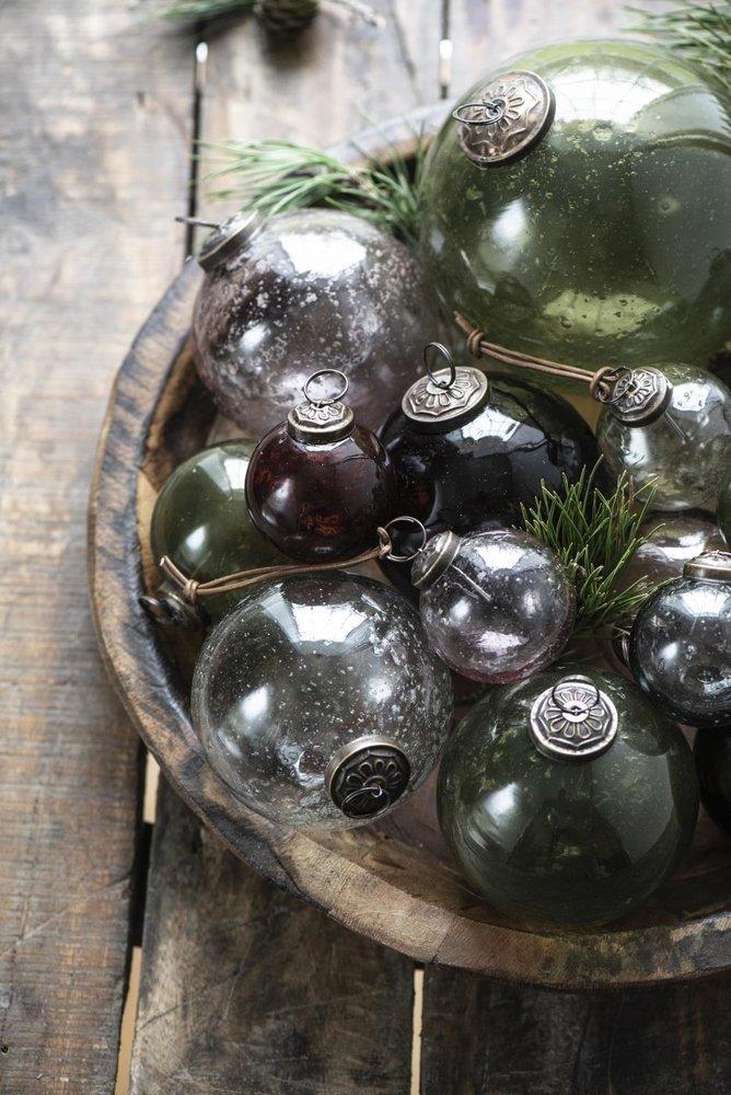 Impressionen zu Ib Laursen Weihnachtskugel Glas pebbled, Bild 1