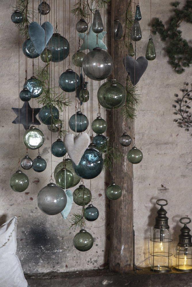 Impressionen zu Ib Laursen Weihnachtskugel Glas pebbled, Bild 3